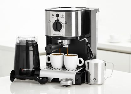 All-In-One Espresso Machine Set with Electric Coffee Grinder